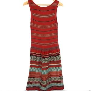 Peruvian Connection Dresses - Peruvian Connection Knit Rust Orange Shift Dress